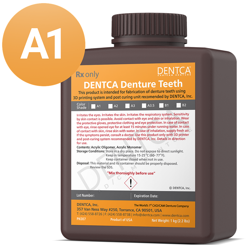 DENTCA Denture Teeth Shade A1