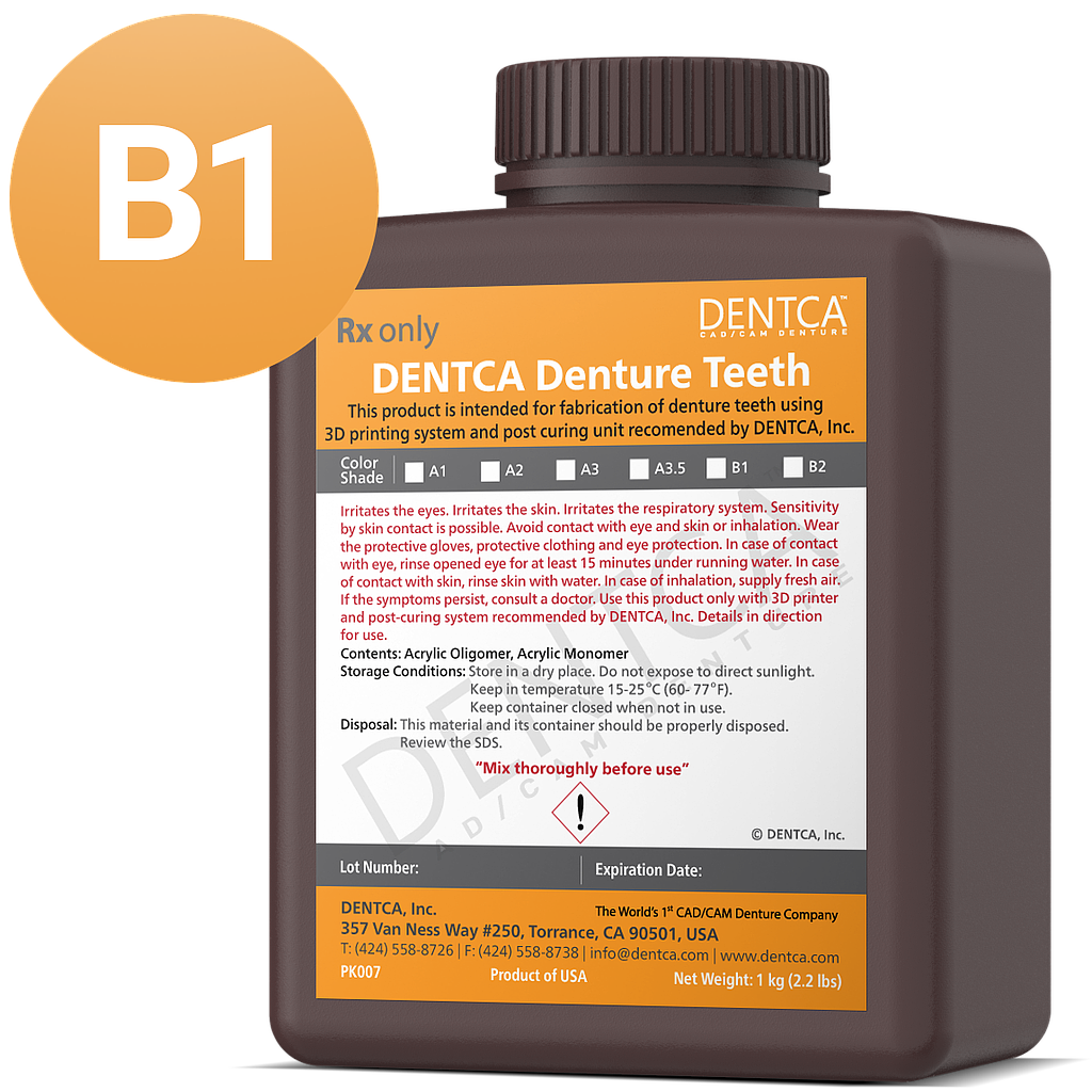 DENTCA Denture Teeth Shade B1
