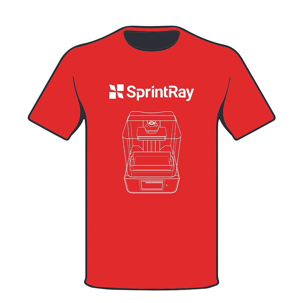 SprintRay T-shirt Red Logo
